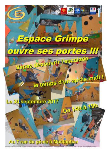 Portes ouvertes Espace Grimpe