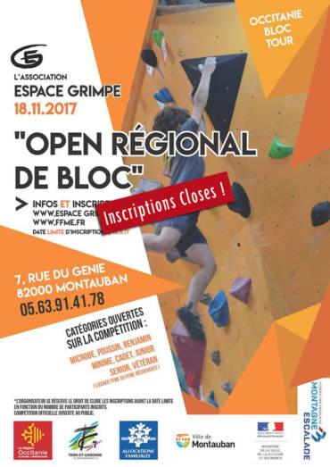 Open régional de bloc Occitanie