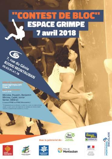 Contest Bloc Espace Grimpe 7 avril 2018