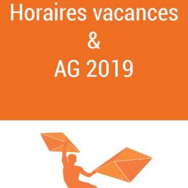 Horaires vacances février & AG 2019