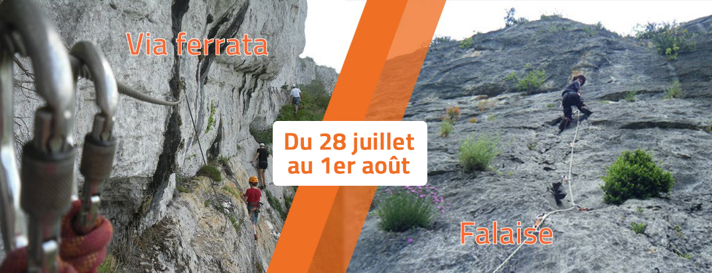 Semaine du 28 juillet au 1er août – Organisation sorties Falaise / Via Ferrata