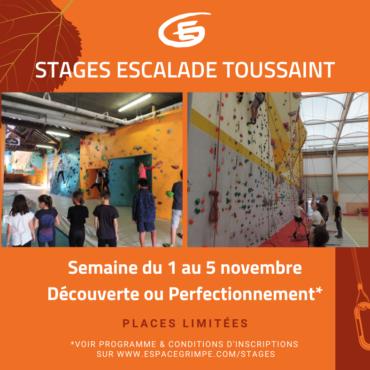 Stages Découverte et Perfectionnement Toussaint 2021